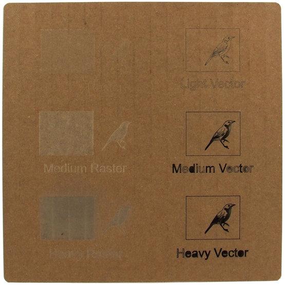 Double carton ondulé - gravure laser