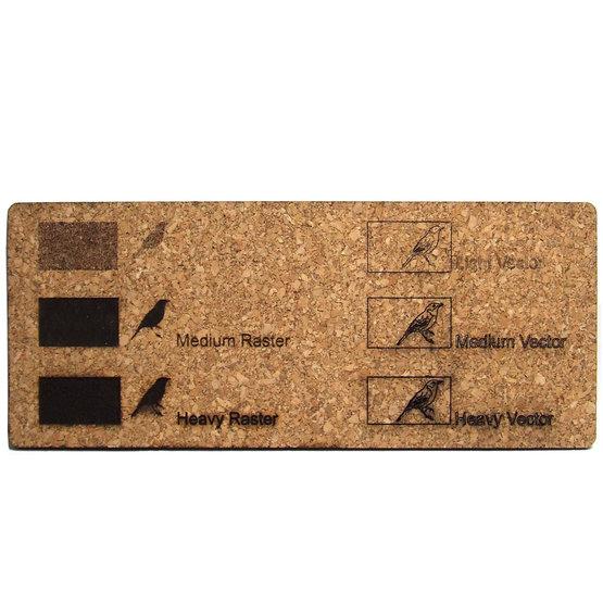 Exemple de gravure - liège pour découpe laser