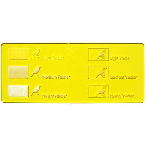 Plexiglass giallo trasparente - incisione laser