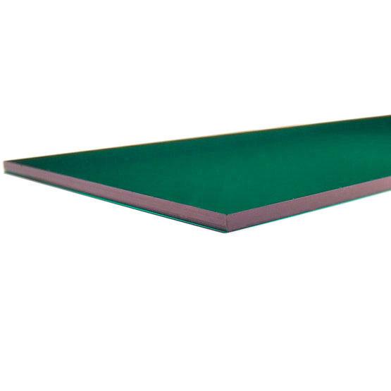 Plexiglass verde foresta trasparente - bordo tagliato al laser