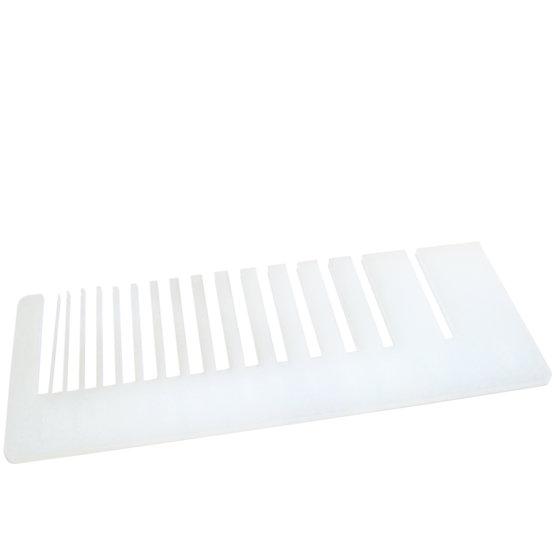 Plexiglass opalino - test precisione taglio laser