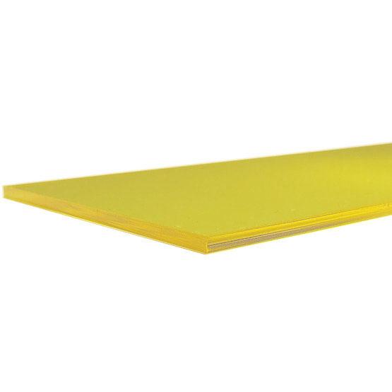 Plexiglass giallo trasparente - bordo tagliato al laser