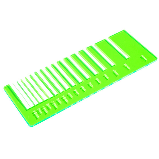 Plexiglas verde fluo - test precisione taglio laser