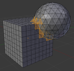 Intersections of Blender geometries