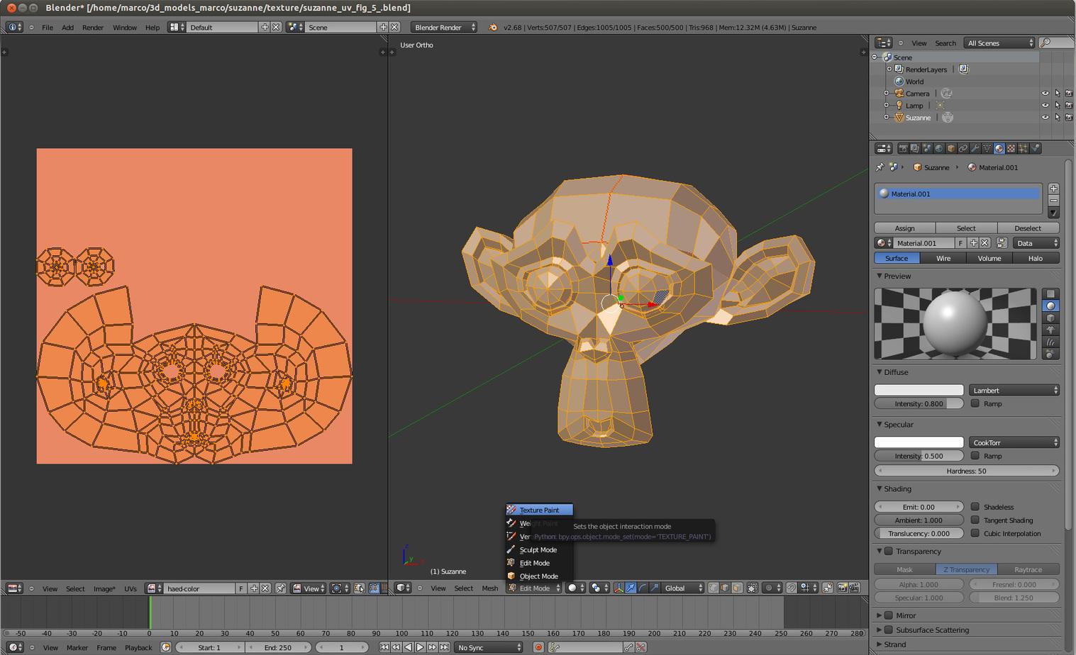 colorful patterns for 3D color printing in Blender