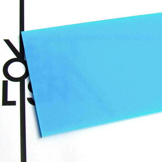 Plexiglas baby blue opalino