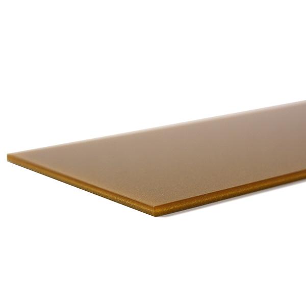 Metalized gold Plexiglass - laser cutting test