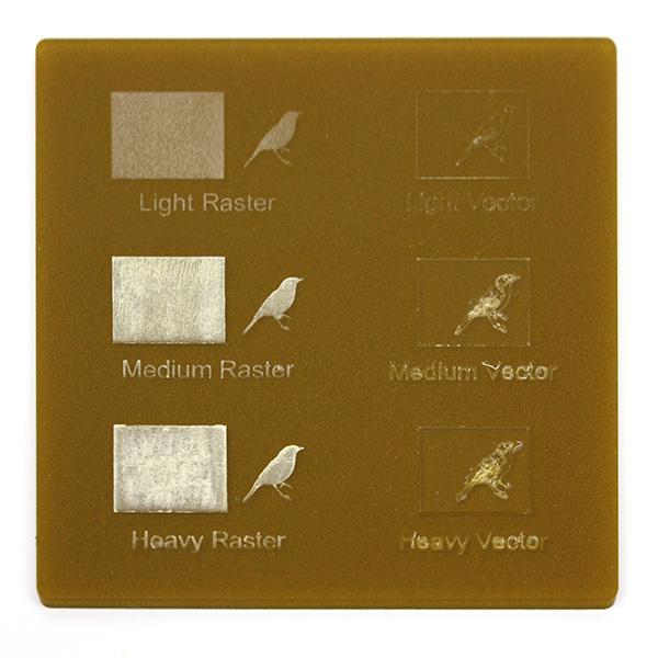 Plexiglass oro metalizzato - esempio incisione