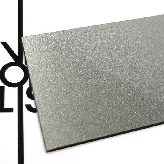 Metallic gray plexiglass - sample