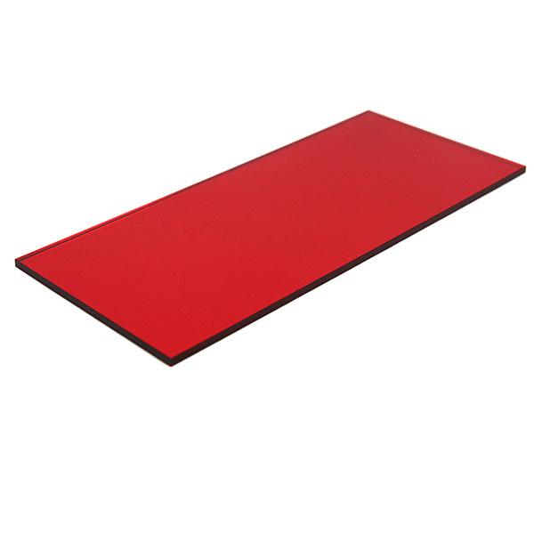 Plexiglas specchio rosso - esempio di taglio