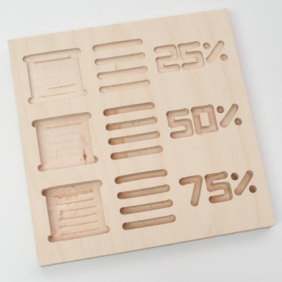 Birch plywood - engraving