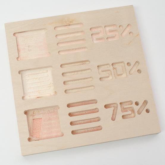 Multistrato di pioppo - incisione