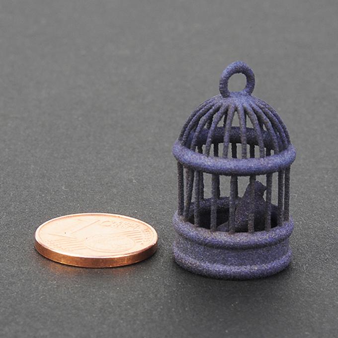 Blue plastic night for 3D printing - sample