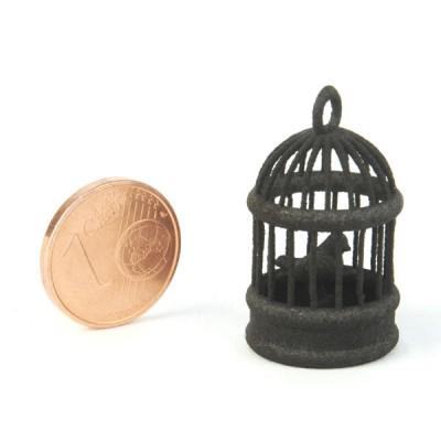 Campione di plastica nera stampata in 3D - nylon SLS