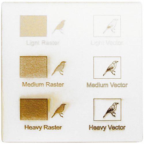 Esempio incisione laser - cartone bianco