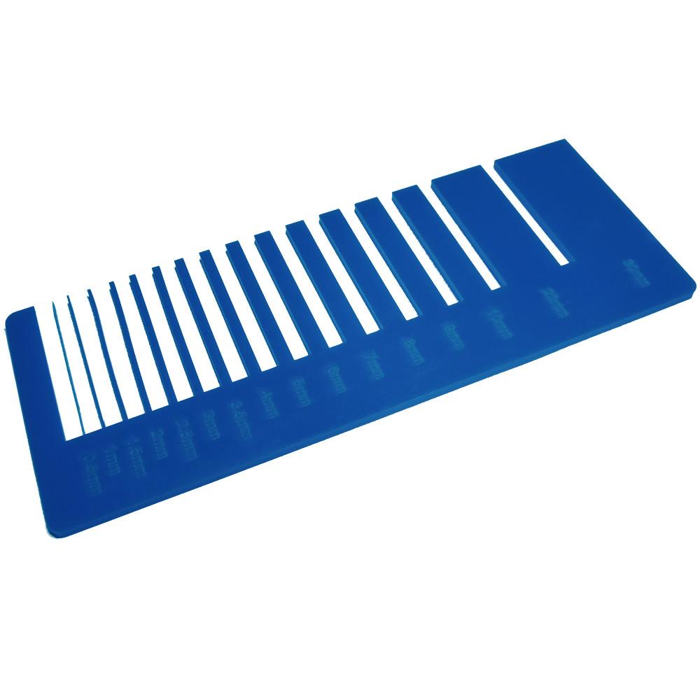 Sapphire blue acrylic - laser cutting precision