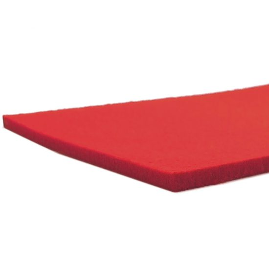 Red felt - laser cut edge