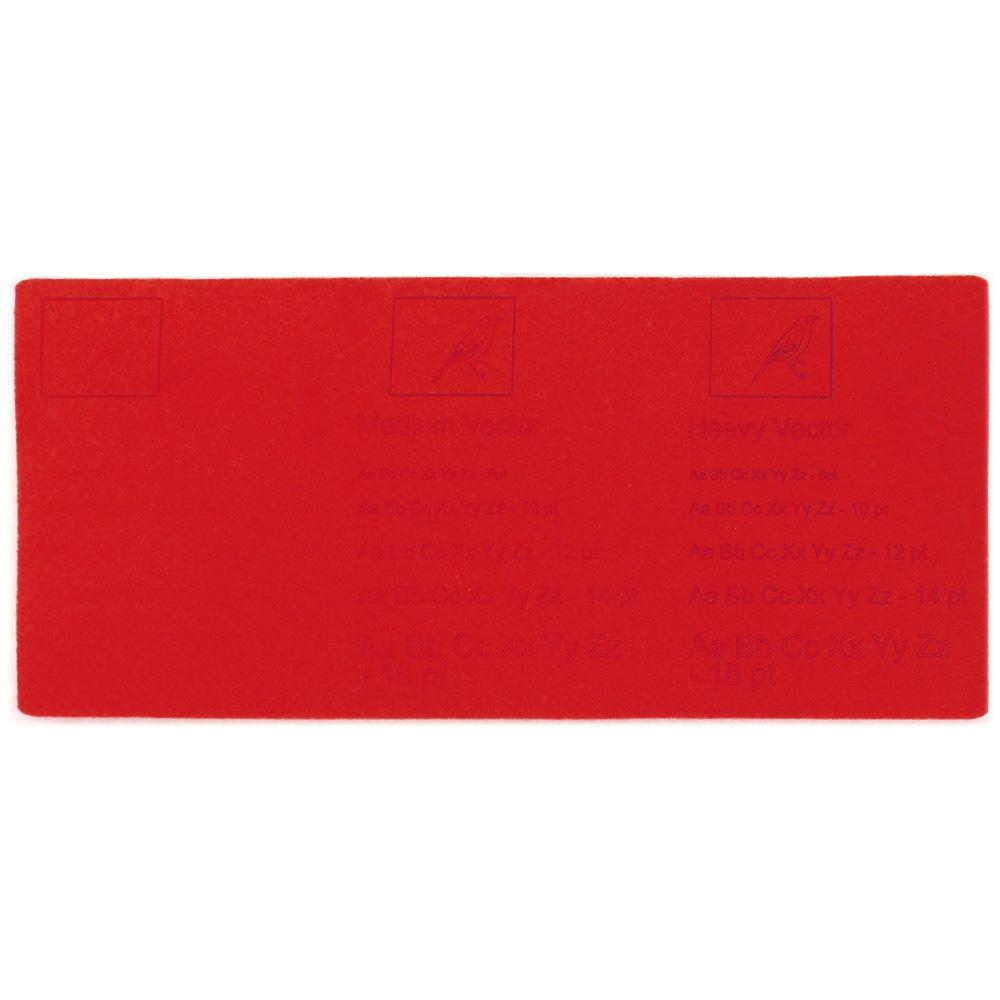 Feltro rosso - esempi di incisione laser