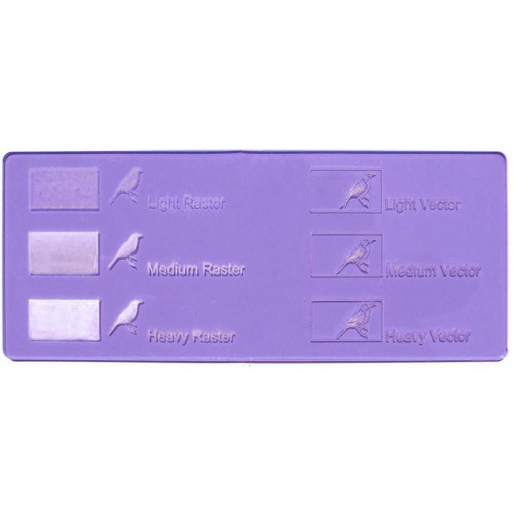 Acrilico lavanda - esempi di incisione laser