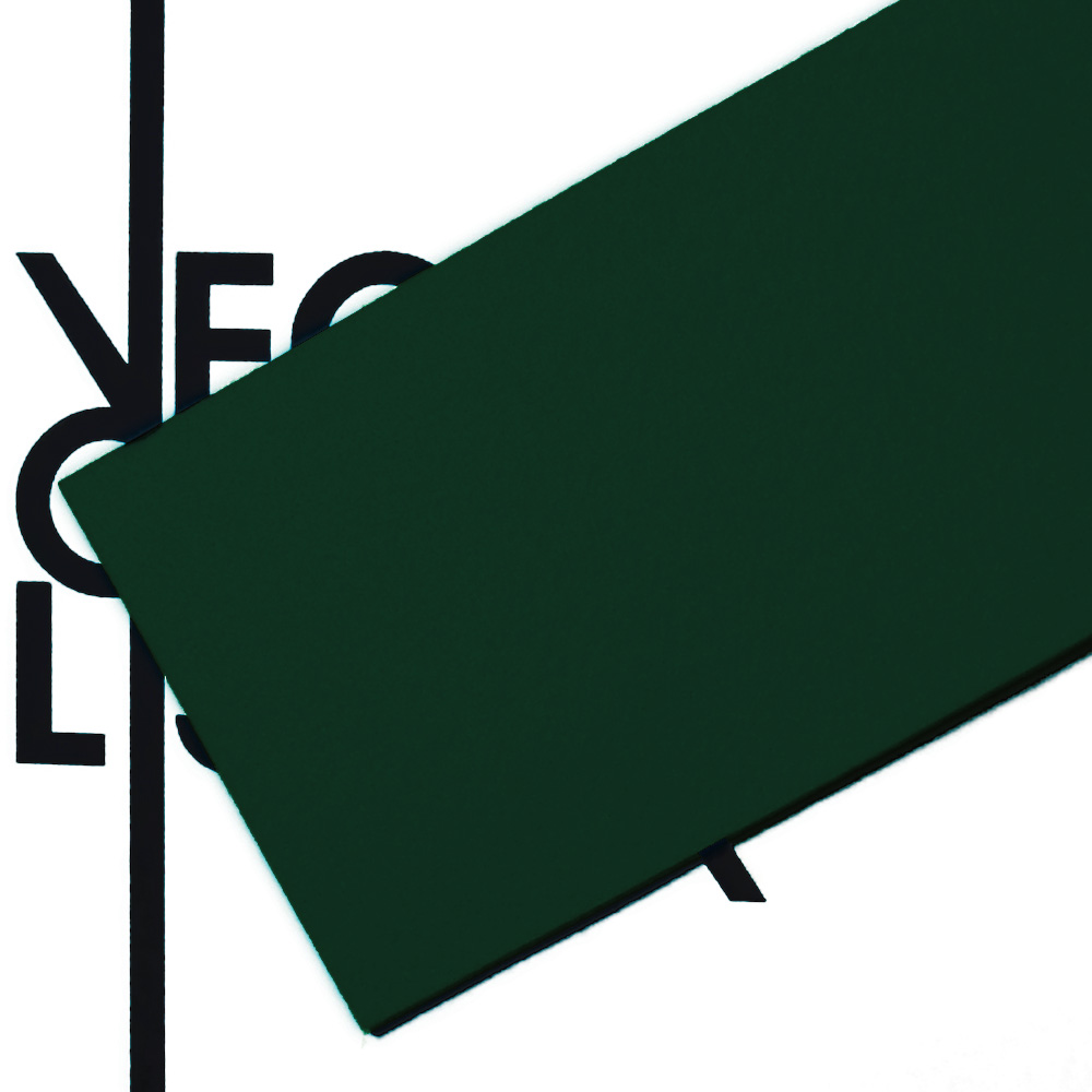 Feltro verde scuro - trasparenza