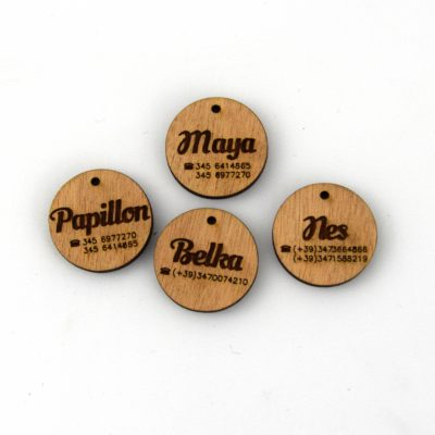 personalized wooden medal