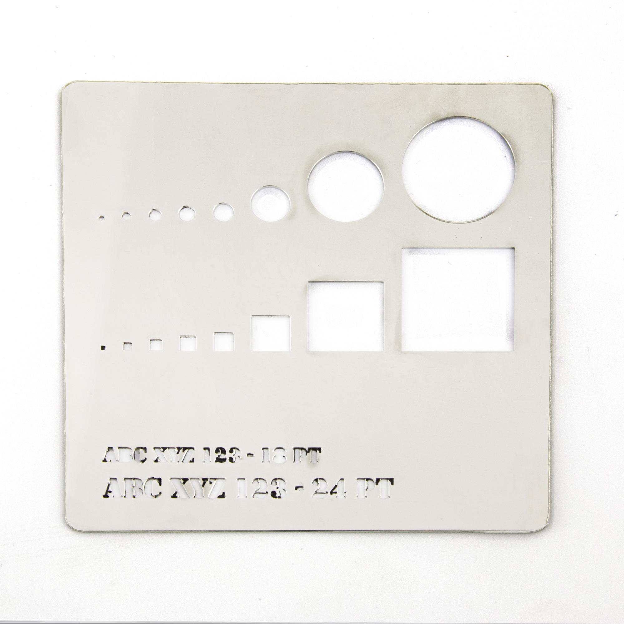 Acier inoxydable finition miroir - test de coupe