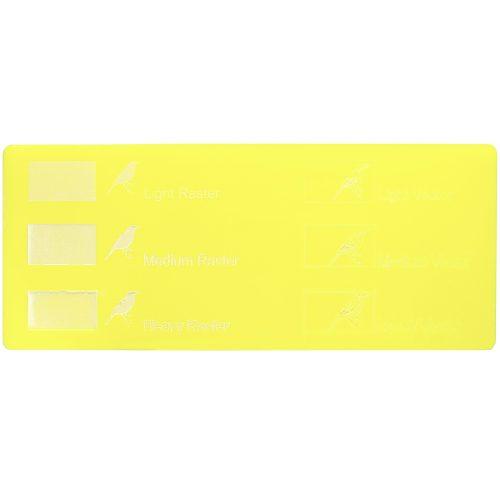 Engraving example - Lemon yellow Plexiglass for laser cutting