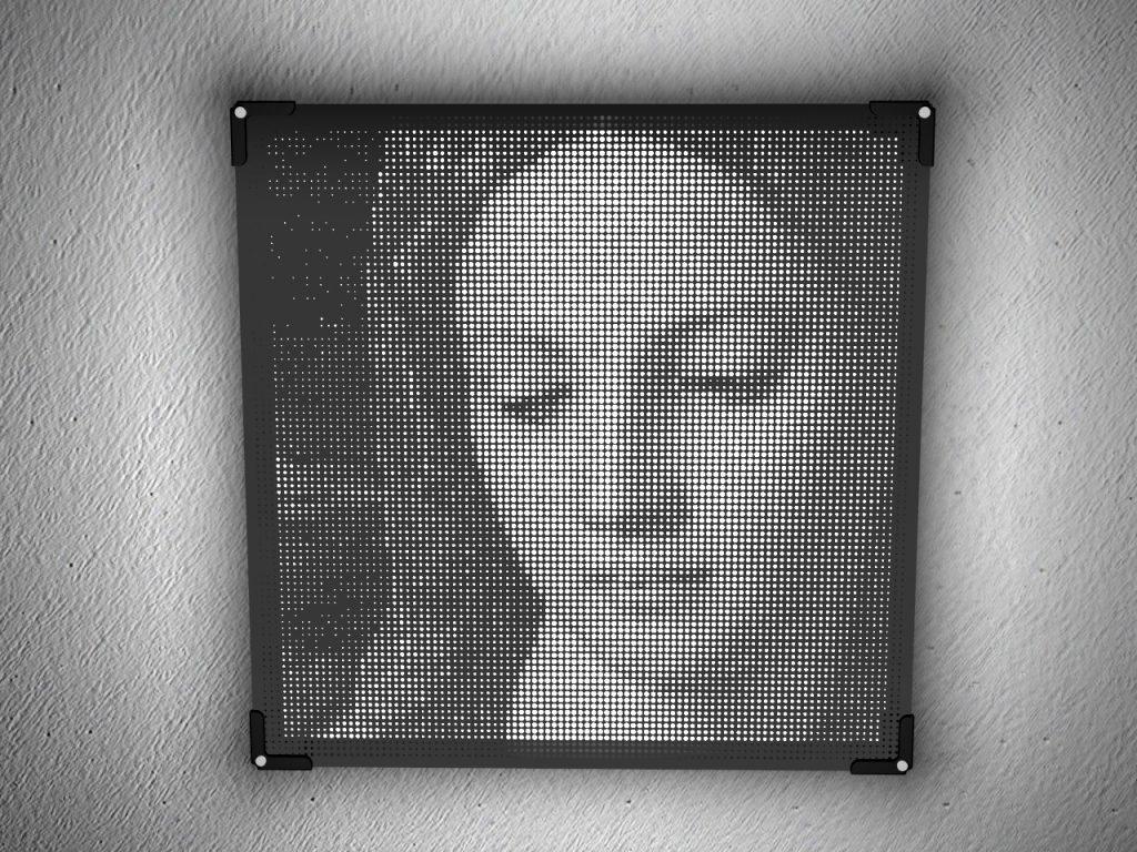 Mostra lampade in taglio laser acrilico | Vectorealism