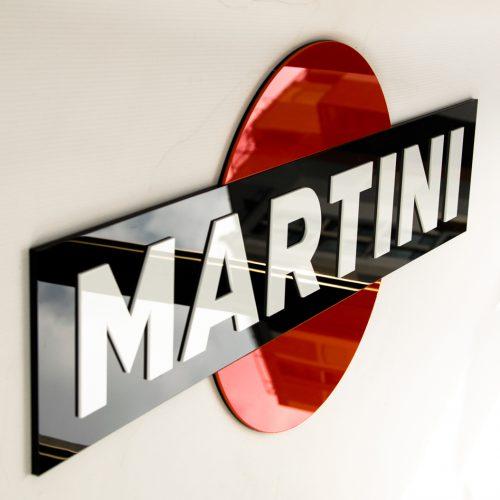 Martini - insegna 3D in plexiglass tagliato al laser
