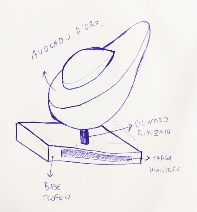 Sketch Avocado d'oro