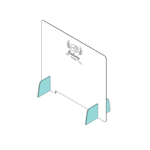 popup Barriera parafiato in plexiglass